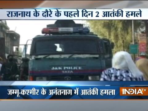 Rajnath Singh in Kashmir: One policeman killed, 2 injured in terror attack