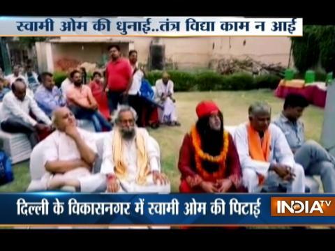 Delhi: Big Boss contestant Swami Om gets beaten up by public again