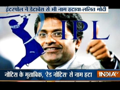 Former IPL commissioner Lalit Modi claims Interpol has removed him from red corner notice