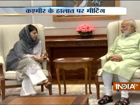 J&K CM Mehbooba Mufti meets PM Modi in Delhi