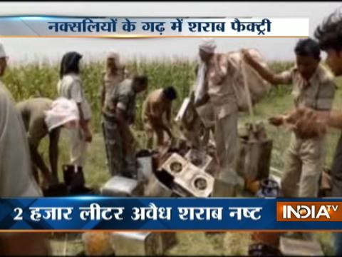 Illegal liquor factories busted in Bihar, two thousand liters of alcohol destroyed