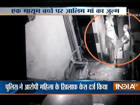 18-month old kid brutally tortured by mother in Delhi, caught on camera