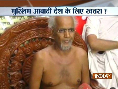 Growing population of the Muslims is a threat to the nation, says Jain Muni Tarun Sagar
