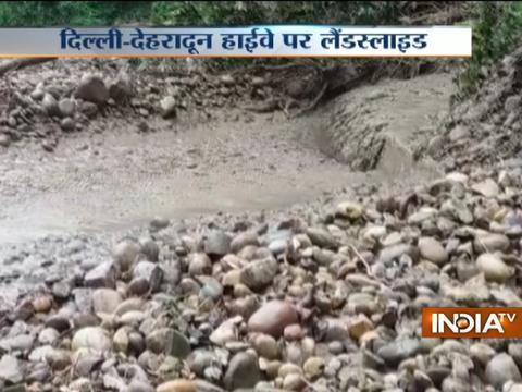 20 thousand people stuck at Delhi Dehradun national highway Via Saharanpur due to landslide
