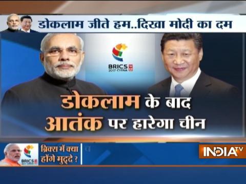 PM Modi raises terrorism issue at BRICS Summit in Xiamen, China