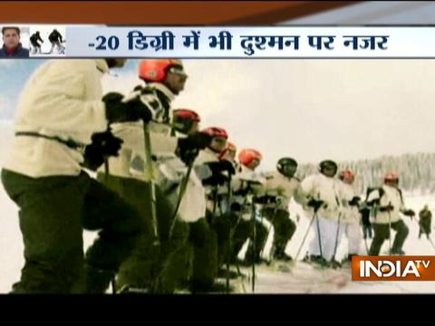 Gulmarg: Indian army soldiers train for avalanche rescue at high altitude warfare school