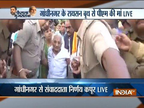Gujarat elections Phase 2: PM Modi's 97-year-old mother Hiraben casts her vote