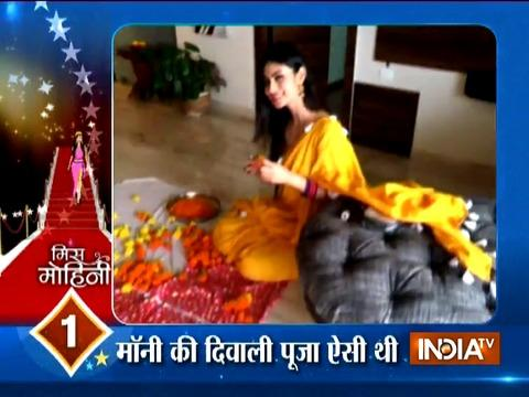 Mouni Roy looks like a beautiful dream come true on Diwali night