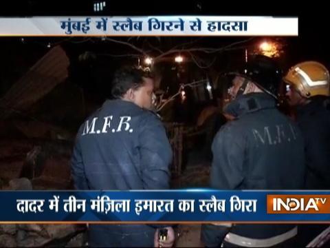 Part of three-storey building collapses in Dadar area of Mumbai