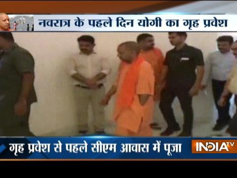 UP CM Yogi Adityanath moves into his official residence at 5, Kalidas Marg in Lucknow