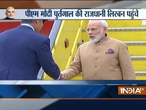 Three-Nation Tour: PM Modi arrives in Lisbon, to meet Portuguese PM Antonio Costa