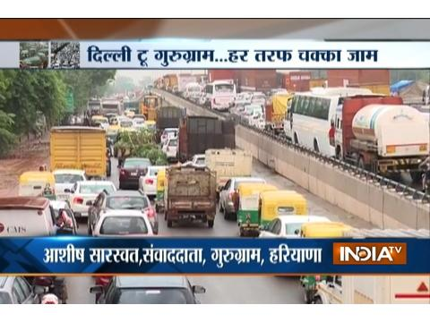 24-hrs on, still no way out from massive traffic jam at Gurgaon