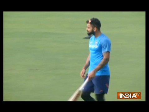 Virat Kohli spotted practicing with shorter bat handle