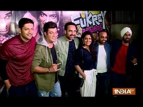 Varun Sharma, Ali Fazal and Zoya Akhtar attend success party of Fukrey Returns