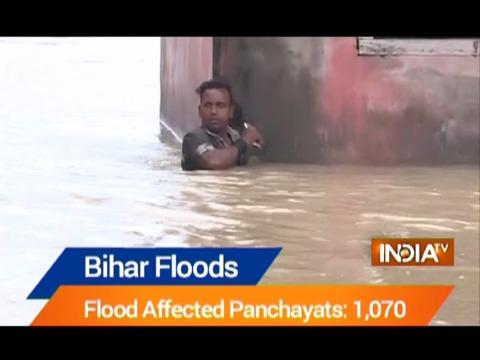 Floods continue to ravage Bihar, 98 lakh people affected