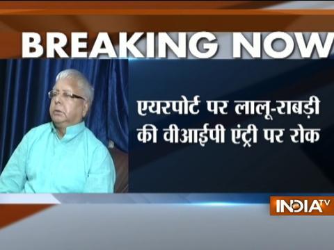 Centre scraps Lalu, Rabri Devi's VIP access to Patna airport tarmac