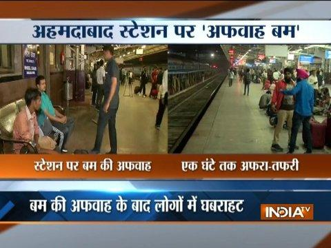 Gujarat: Bomb threat at Ahmedabad's Kalupur railway station