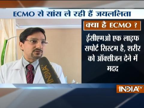 Jayalalithaa On ECMO For Heart And Lung Support
