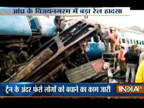 Jagdalpur-Bhubaneswar Express derails in Andhra Pradesh, death toll reaches to