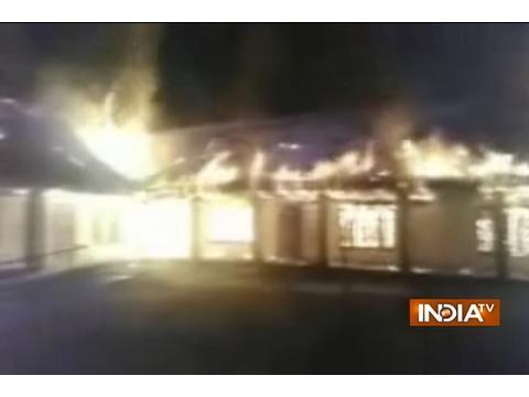 Unidentified miscreants set ablaze a school in Ganderbal district of Jammu