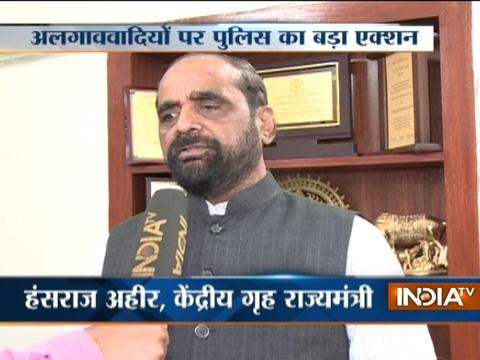 We are making best possible effort to stop terror action in Kashmir: Hansraj Ahir
