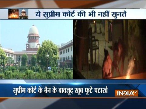 Delhi: Firecrackers Burst Non-Stop despite Supreme Court ban