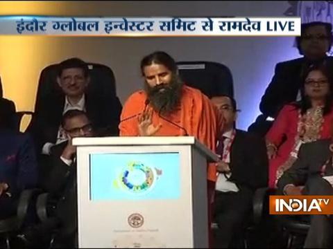 Baba Ramdev speaks at Global Investors Summit in Indore