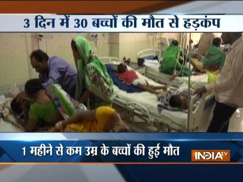 30 more children die in three days at state-run BRD Hospital in Gorakhpur