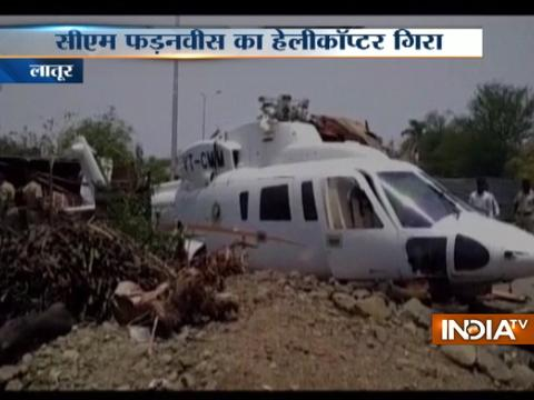 Chopper with Maharashtra CM Devendra Fadnavis crash-lands in Latur, no injury
