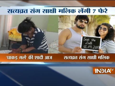 Wrestler Sakshi Malik to marry Satyawart Kadian today