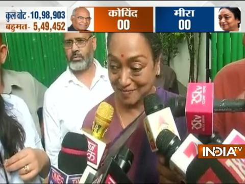 Great belief in ideology I fought for, says Meira Kumar ahead of president election result