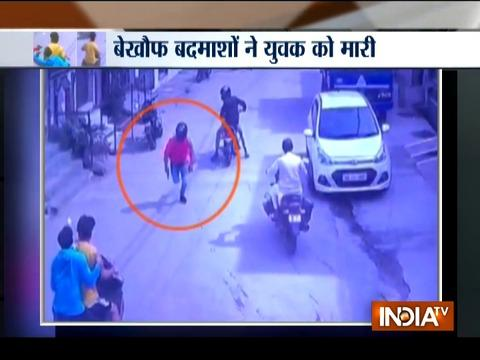 Caught on Camera: Youth shot dead by unidentified man in Delhi