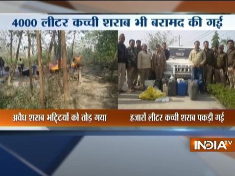 Bootlegging halt! Illegal liquor destroyed by police in Uttarakhand