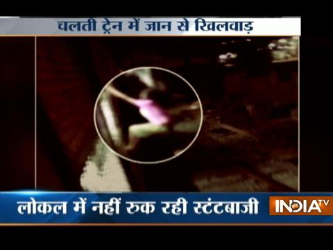 Caught on camera: 10-year old boy performs stunt on Mumbai local train