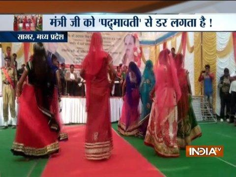 MP minister loses his cool over 'ghoomar' dance performed by school girls