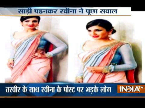 Raveena Tondon Saree Tweet Sparks Row, Urge People Not To Politicise Any Garment