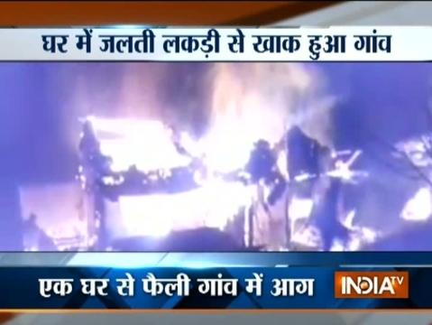 Himachal Pradesh: Devastating fire destroys half of village in Kullu