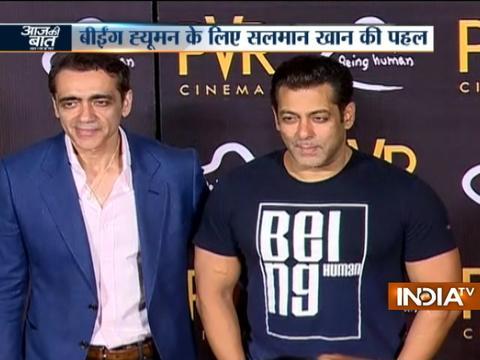 Aaj Ki Baat Good News: PVR ties up with Salman Khan's Being Human Foundation