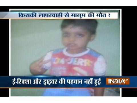 3-yr-old kid dies after an E-rickshaw runs over him in Delhi