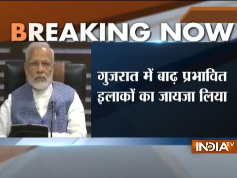 PM Modi holds review meeting at Ahmedabad on flood situation in different parts of Gujarat