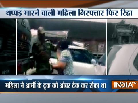 Delhi: Woman who assaulted Indian Army personnnel gets bail after arrest