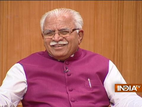 Haryana CM Manohar Lal Khattar in Aap ki Adalat (Full Interview)