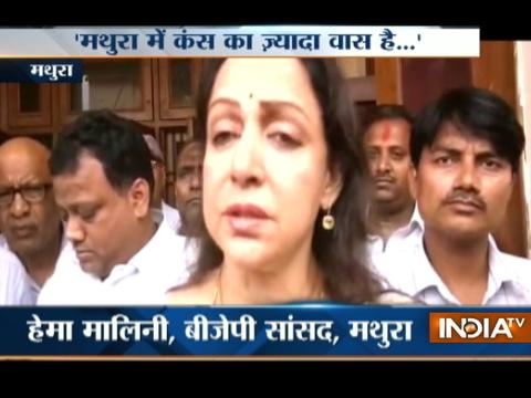 Mathura Double Murder: Hema Malini meets victim's family assures of providing them justice