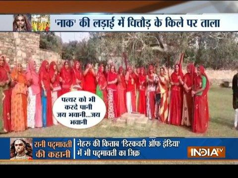 Padmavati Controversy: Rajput women group protest with sword against Bhansali's film