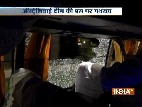 Rock thrown at Australian team bus after 2nd T20I in Guwahati