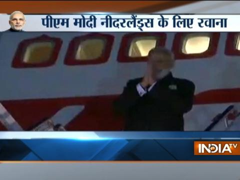 PM Narendra Modi leaves for for Netherlands from Washington DC after meeting Trump