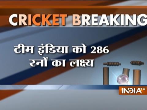 INDvsNZ, 3rd ODI: Black caps set target of 286 runs for India