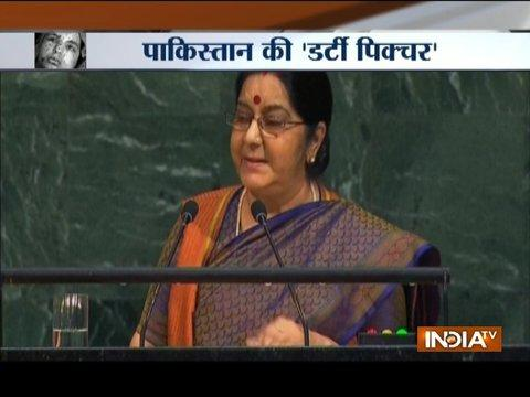 Pak Exposed In UN: PM Modi hails Sushma Swaraj for her UNGA speech