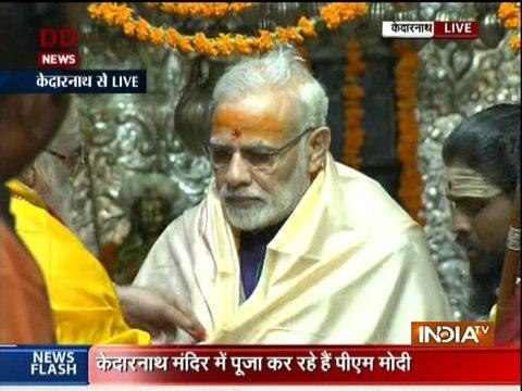 Uttarakhand: PM Narendra Modi offers prayers at Kedarnath Temple