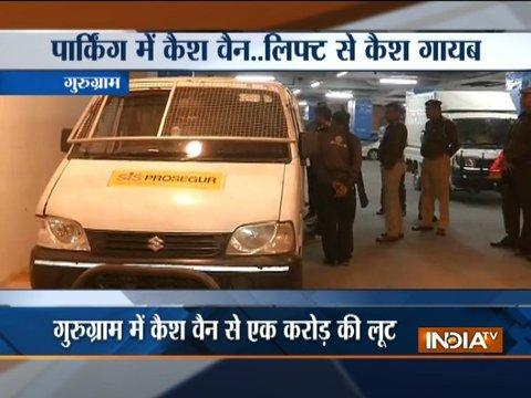 Cashier loots Rs 1 crore from cash van in Gurugram
